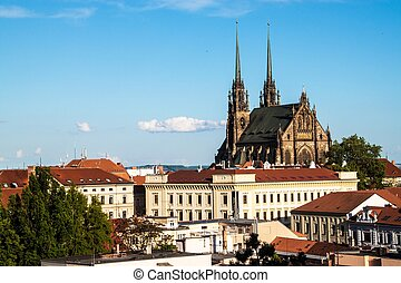 St, Peter and Paul cathedral in Brno - View of the St, Peter...