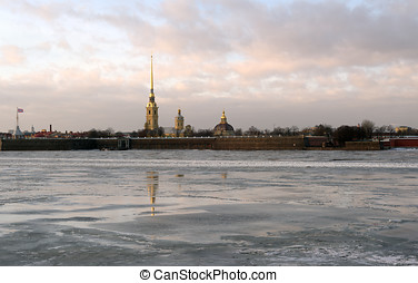 St. Peter and Paul fortress in St. Petersburg, Russia