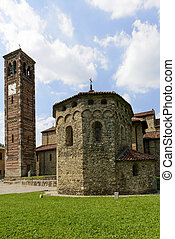 st. Peter church baptistery and bell-tower, Agliate