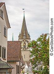 St. Peter (Landmark) Zurich, downtown