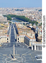 St. Peter Square in Vatican, Italy