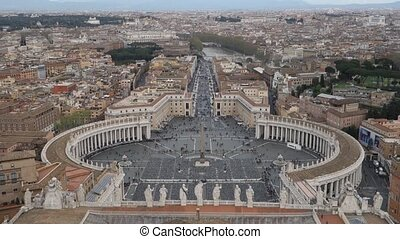 St Peter square overview - Aerial view of the Saint Peter's...