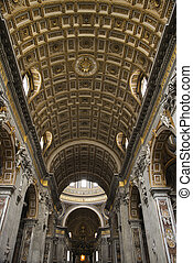 St. Peter\'s Basilica. - Interior of St. Peter\'s Basilica...