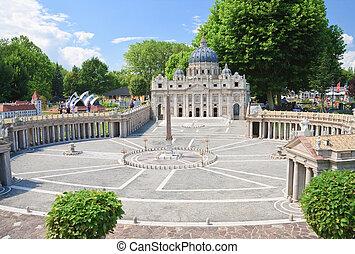 St. Peter's Basilica, Vatican City. Klagenfurt. Miniature ...
