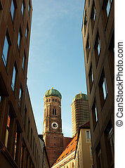 St Peters church clock tower in Munich Germany