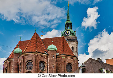 St. Peter's Church,a Roman Catholic church, and the oldest church in central Munich.