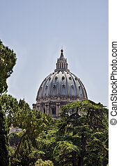St Peters in Trees - Dome of St. Peters Basilica in the ...