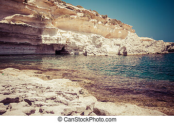 St. Peters pool - rocky beach at Malta