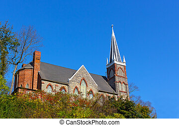 St. Peter's Roman Catholic Church in Harpers Ferry, West Virginia, USA.