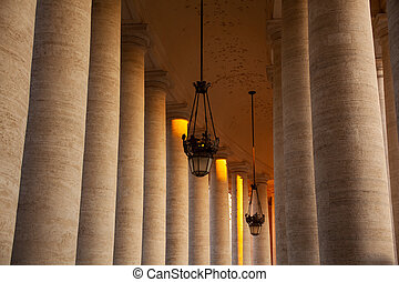 St. Peter's Square colonnades, Rome