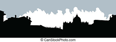 St. Peter's Square Silhouette