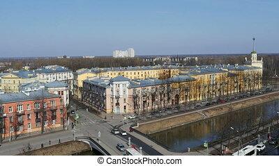 St. Petersburg in spring time lapse - skyline St. Petersburg...