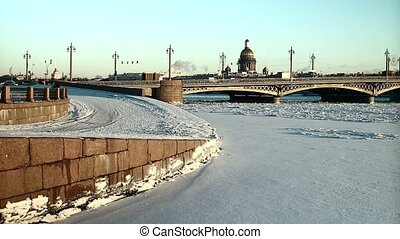 St. Petersburg in the snow coldest winter