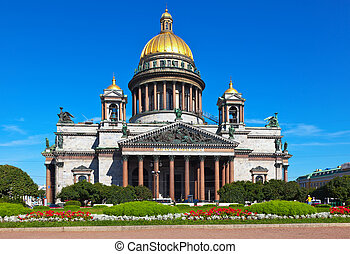st. petersburg, isaac, santo, catedral