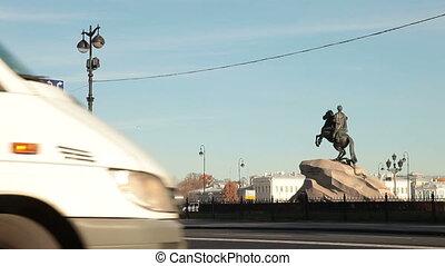 St. Petersburg Landmarks - Senate Square, Bronze Horseman