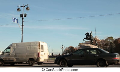 Bronze Horseman - St. Petersburg Landmarks - Senate Square,...
