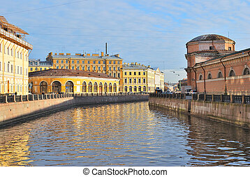 St. Petersburg. Moika river embankment