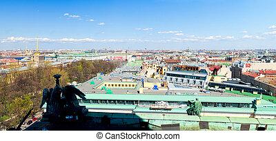 St. Petersburg panoramic aerial view high res
