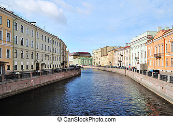 St. Petersburg, river Mojka