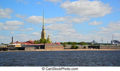 St. Petersburg, Russia - June 03. 2017. Peter and Paul Fortress and river Neva