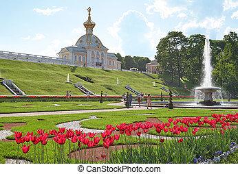 The church in Peterhof