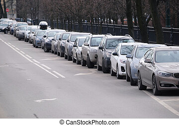 Cars on a parking