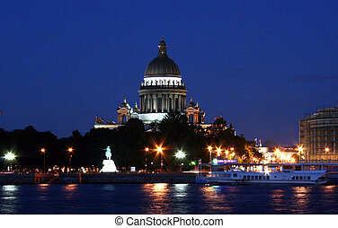 St.-Petersburg, Russia - Isaakievsky cathedral in...