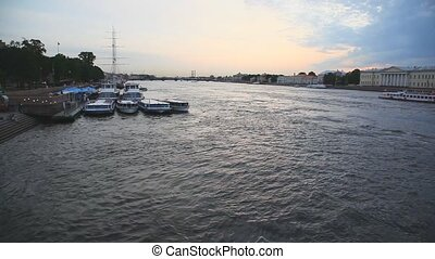 St. Petersburg - Evening cityscape of St. Petersburg