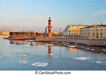 St. Petersburg, Vasilievsky island in spring