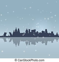 St. Petersburg vector silhouette