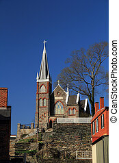 st piotrowie, rzymskokatolicki kościół, w, bród harfiarek