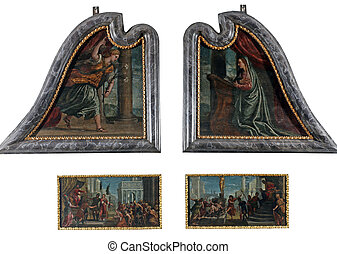 st. 。, polyptych, lawrence