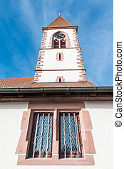St. Roman Church closeup - Closeup shot of beautiful St....