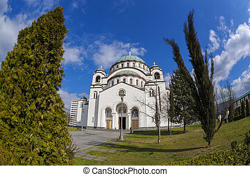 St. Sava Cathedral in Belgrade, Capital city of Serbia