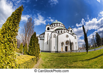 St. Sava Cathedral in Belgrade, Capital city of Serbia - St....