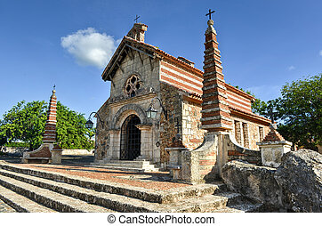 St. Stanislaus Church , Altos de Chavon, La Romana,...