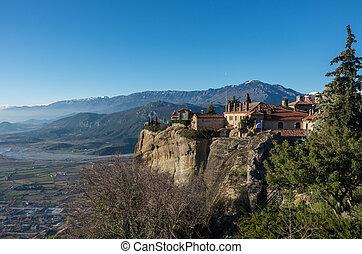 St Stefan Monastery in Meteora rocks, Trikala, Greece