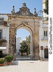 St. Stefano Gate. Martina Franca. Apulia.