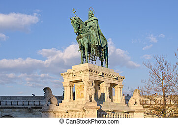 St Stephen Statue in Budapest, Hungary