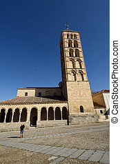 St. Stephen's church (12th century), Segovia. Castilla-Leon,...