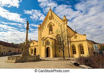 St. Stephen's Church in Bratislava in a summer day, Slovakia