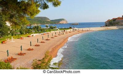 St. Stephen's Island, Montenegro. The famous island of ...
