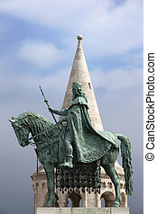 St Stephen's Statue in Budapest