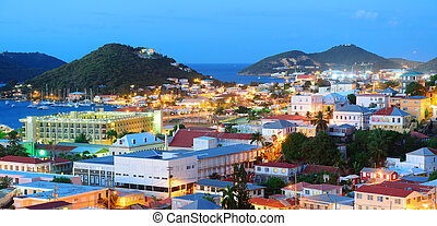 St Thomas mountain view in early morning - Virgin Islands St...