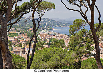 St-Tropez cityscape - A view over St-Tropez from the...