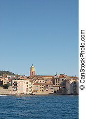 St Tropez from bay vertical