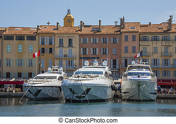 St Tropez - South of France - The resort of St Tropez on the...