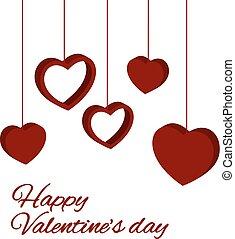 st valentine card - Valentine love background with hearts...