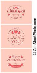 St. Valentine card template. - Vector decorative background...