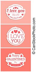 St. Valentine card template. - Vector decorative background...